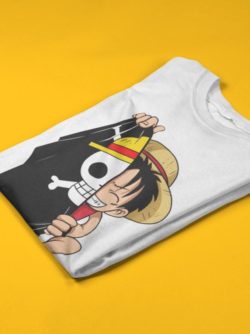 camiseta one piece doblada