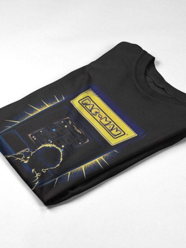 camiseta pacman negra