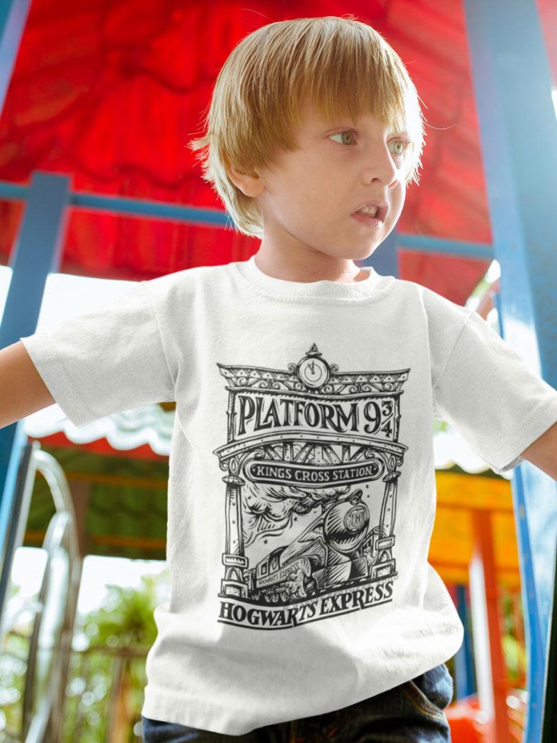 Camiseta plataforma nueve y tres cuartos harry potter