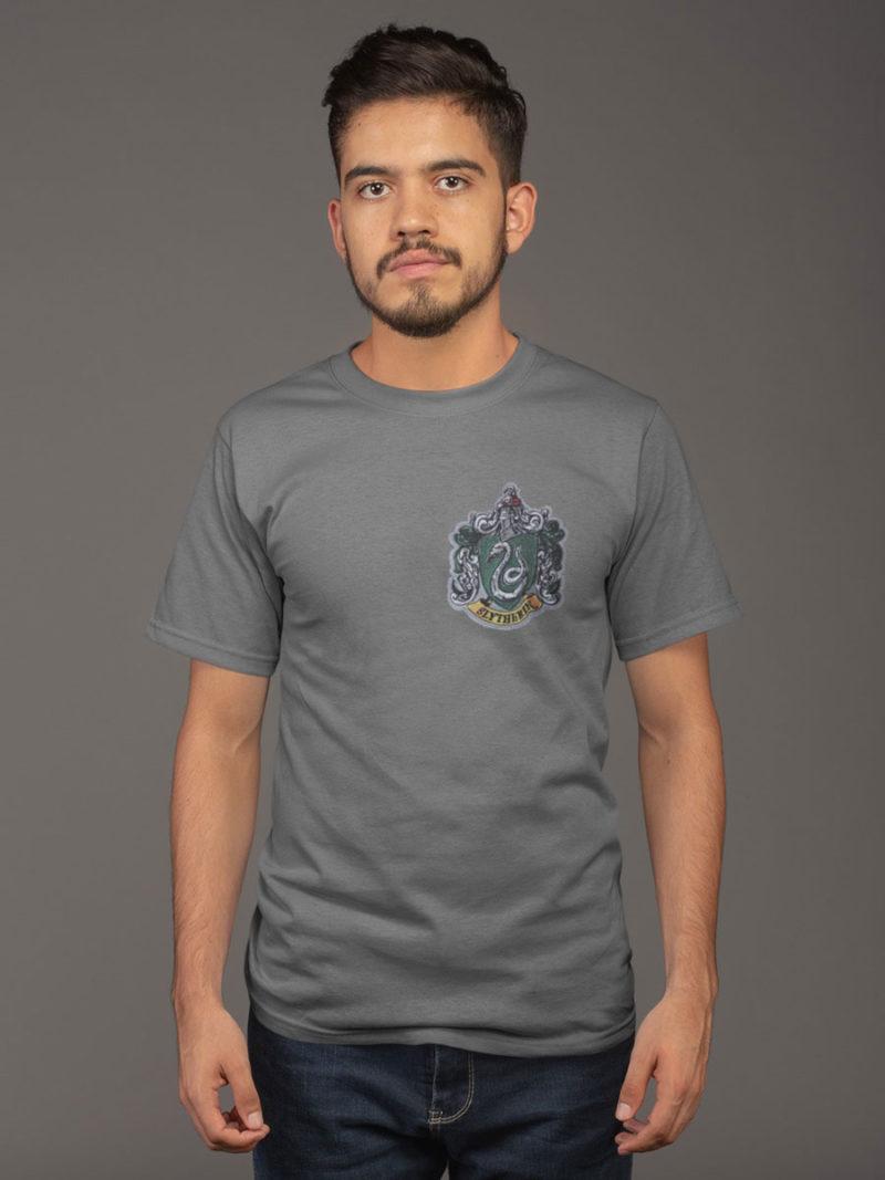 camiseta slytherin gris adulto
