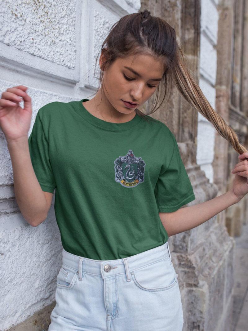 camiseta slytherin verde