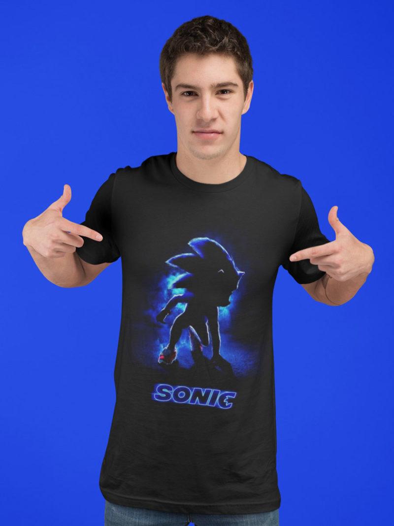 camiseta sonic pelicula