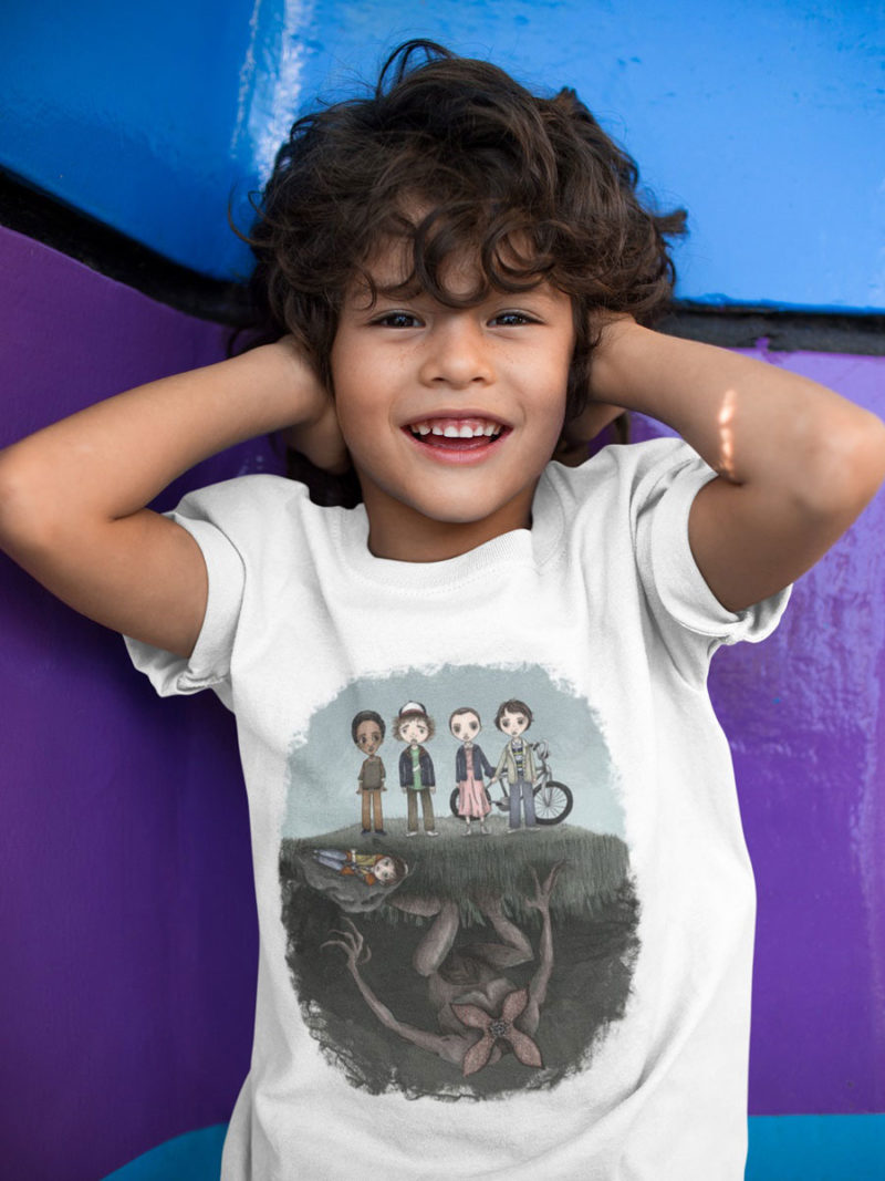 camiseta stranger things el mundo del reves nino