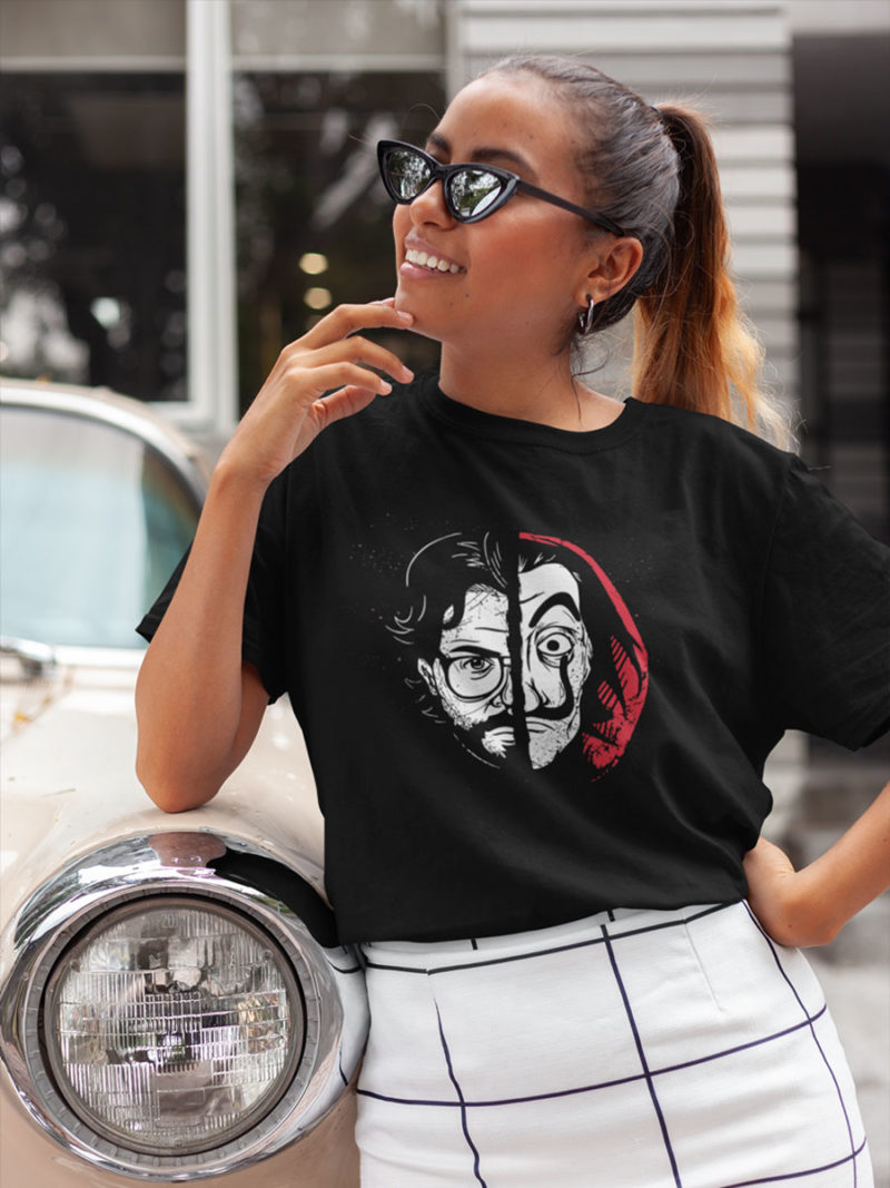 camiseta profesor de la casa de papel