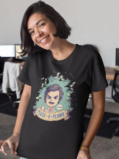 camiseta de pablo escobar el patron del mal