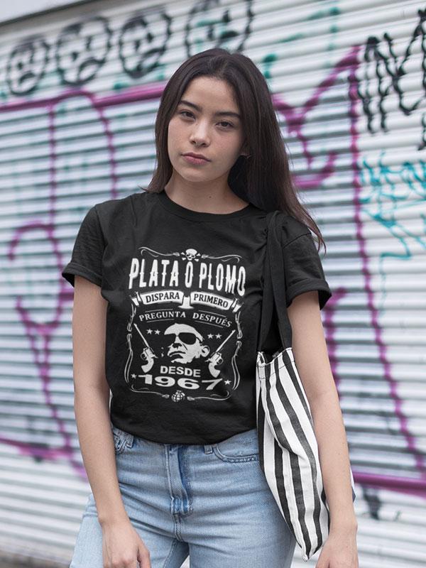 camiseta de pablo escobar my brand negra