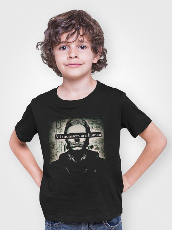 All monsters are human camisetas infantil