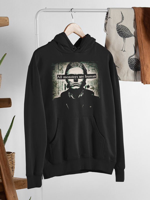 All monsters are human sudadera capucha