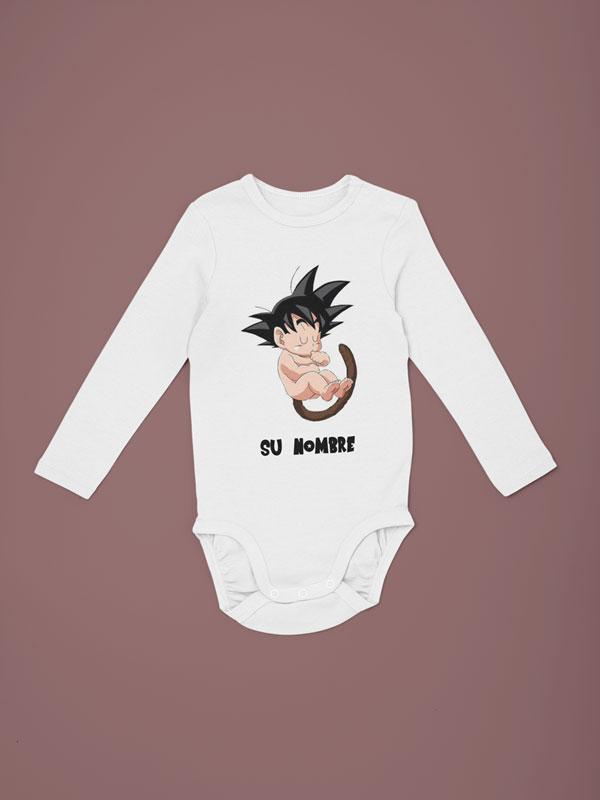 body bebé personalizado con nombre manga larga