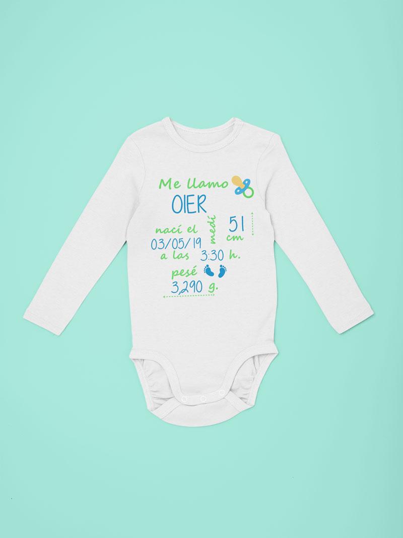 body personalizado recién nacido