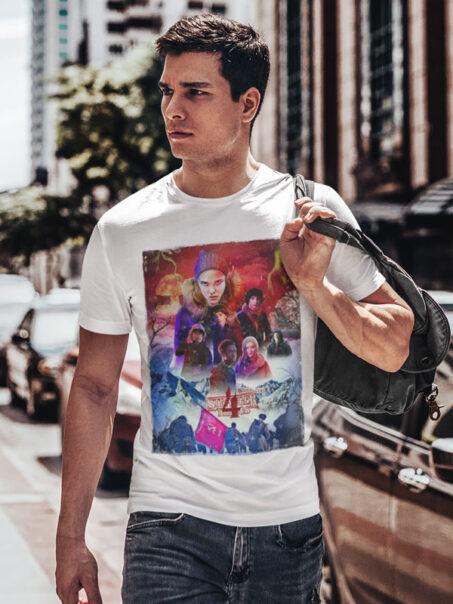 camiseta adulto stranger things 3 unisex