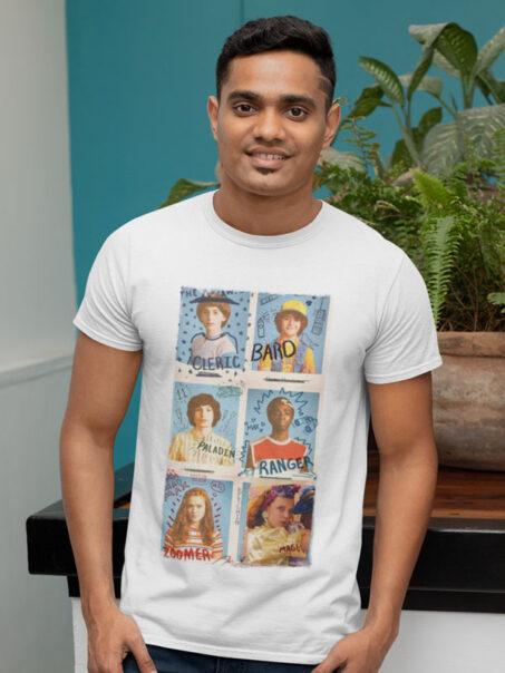 camiseta amigos stranger things adulto
