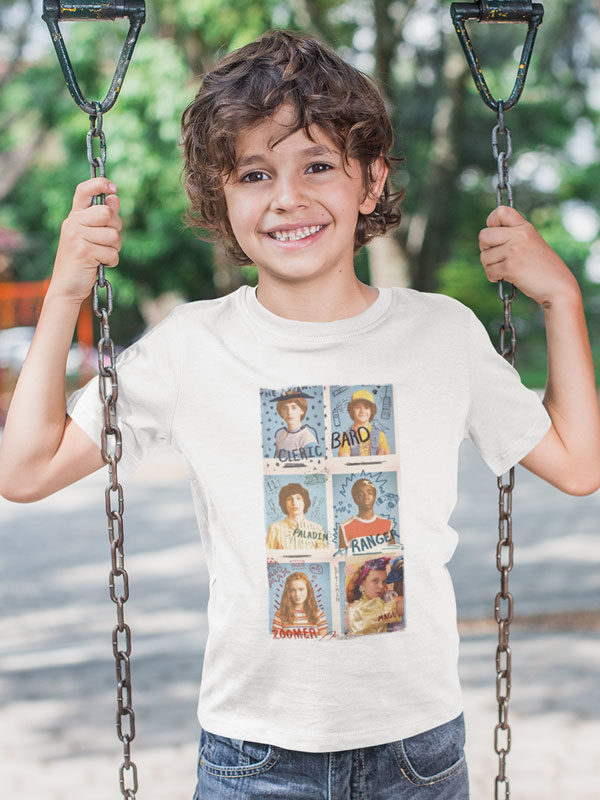 camiseta amigos stranger things infantil