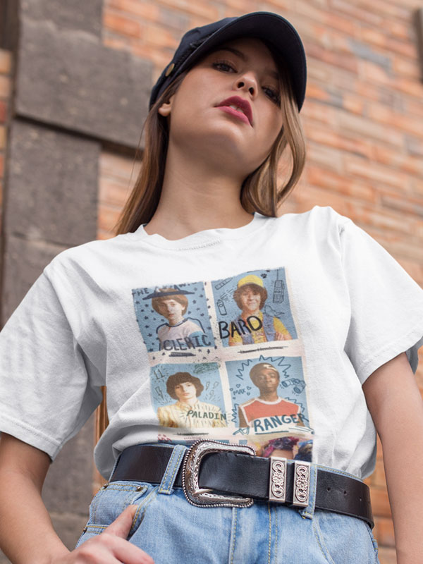 camiseta amigos stranger things unisex