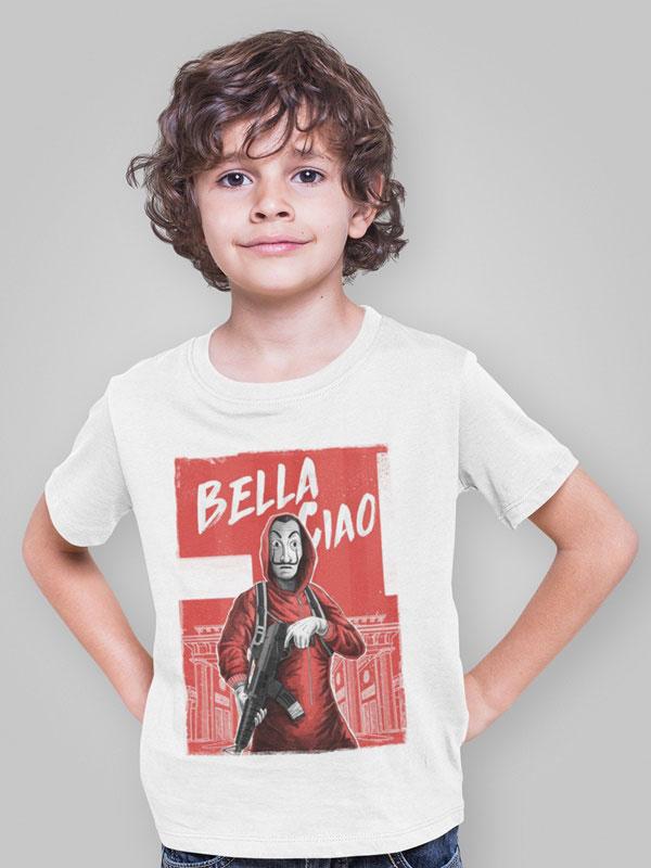 camiseta bella ciao infantil