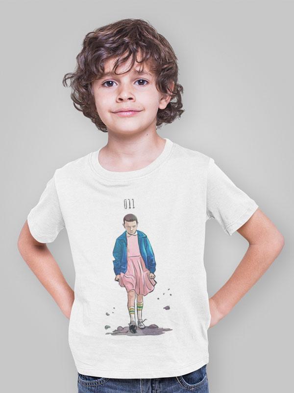 camiseta infantil de stranger things eleven