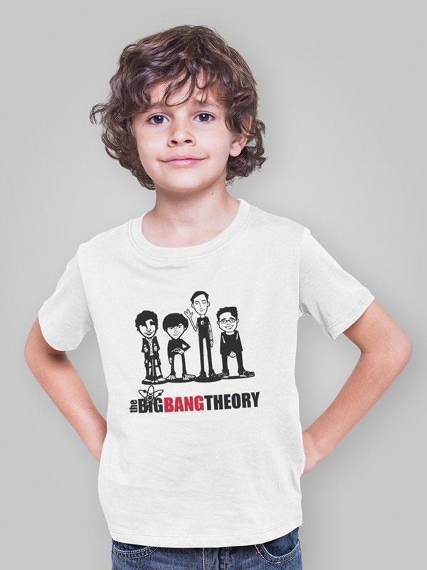 camiseta infantil de the big bang theory adulto