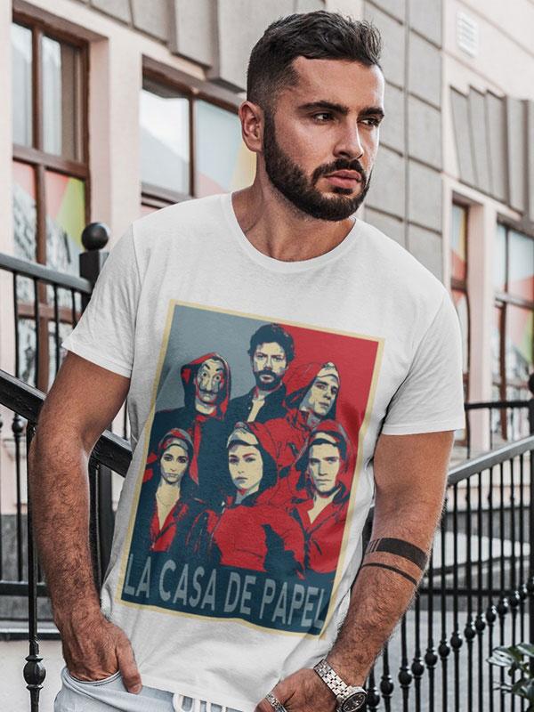 camiseta la banda la casa de papel adulto