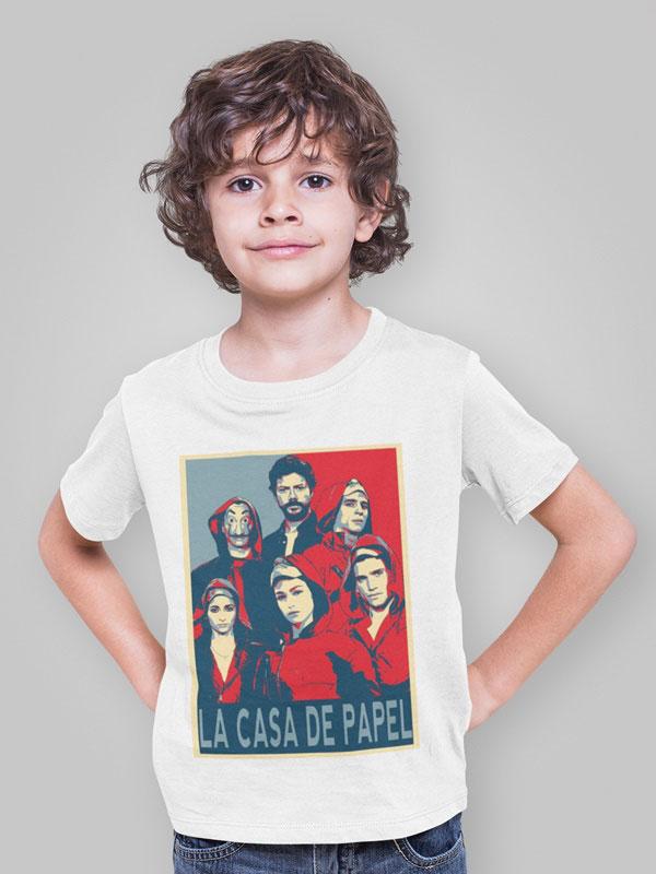 camiseta la banda la casa de papel infantil