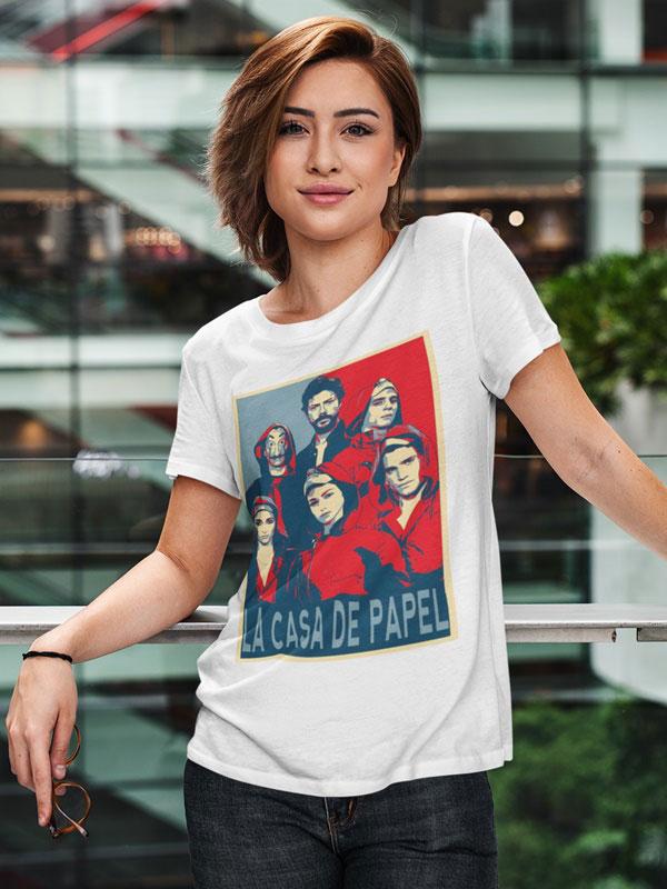 camiseta la banda la casa de papel unisex