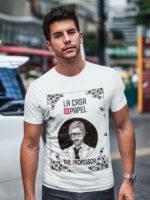 camiseta la casa de papel el profesor adulto