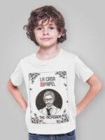 camiseta la casa de papel el profesor infantil