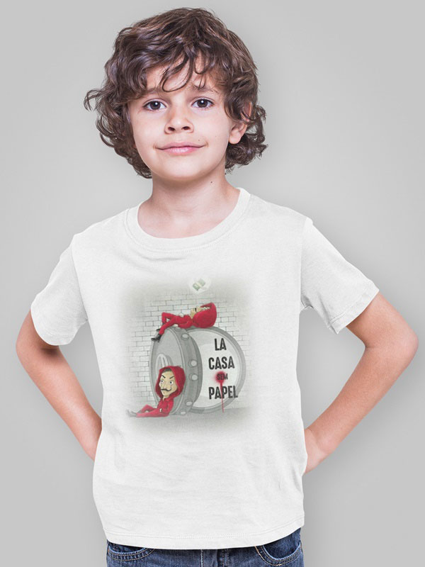 camiseta la casa de papel money infantil