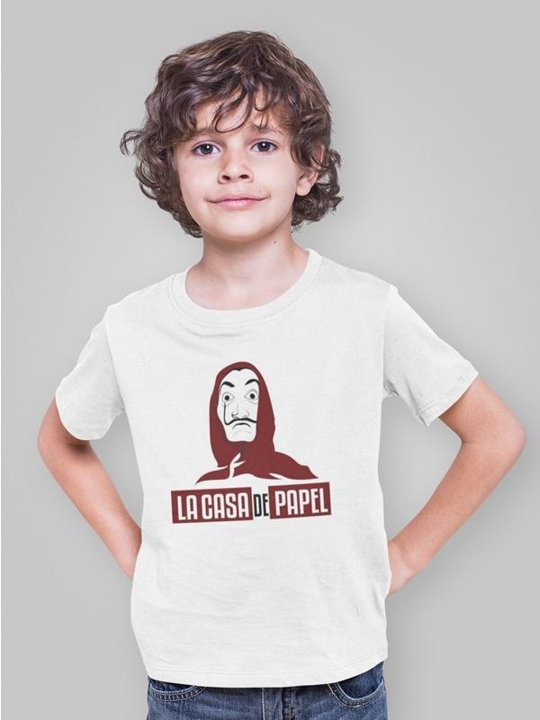camiseta ladrones la casa de papel infantil