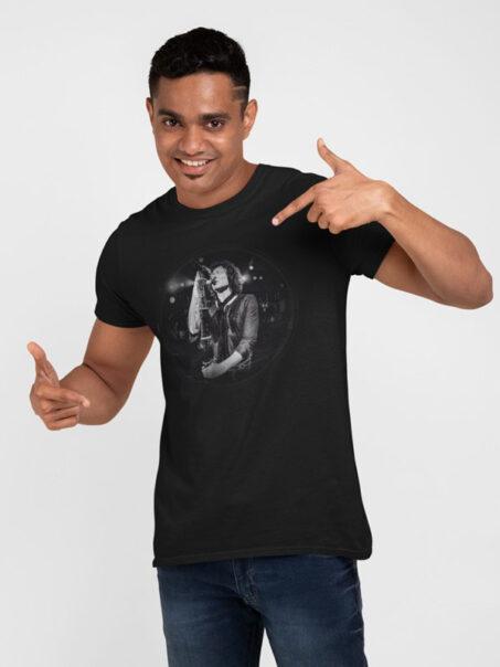 camiseta negra heroes del silencio