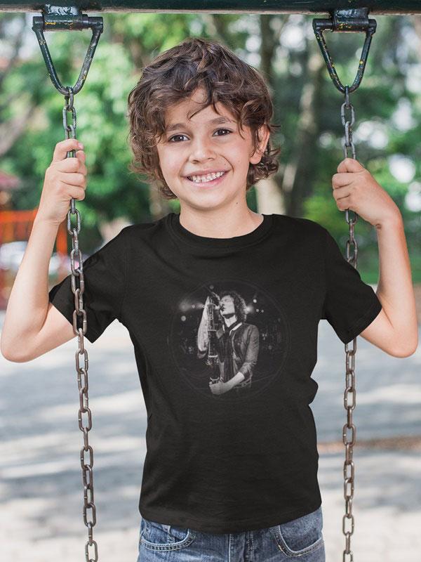camiseta negra heroes del silencio nino