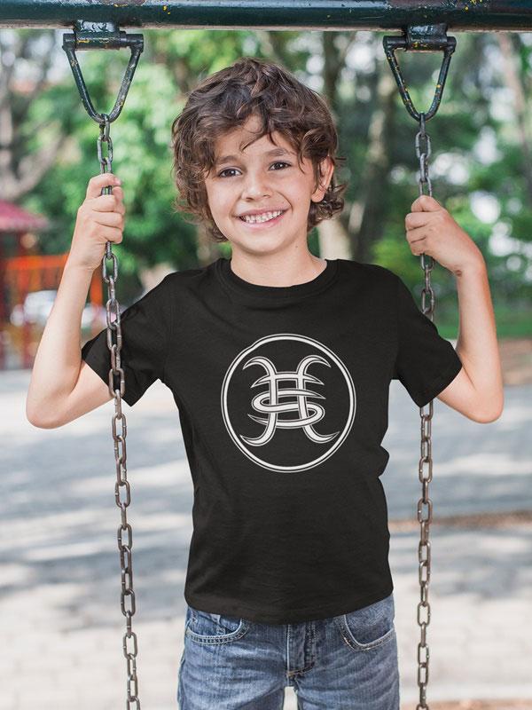 camiseta nino heroes del silencio logo