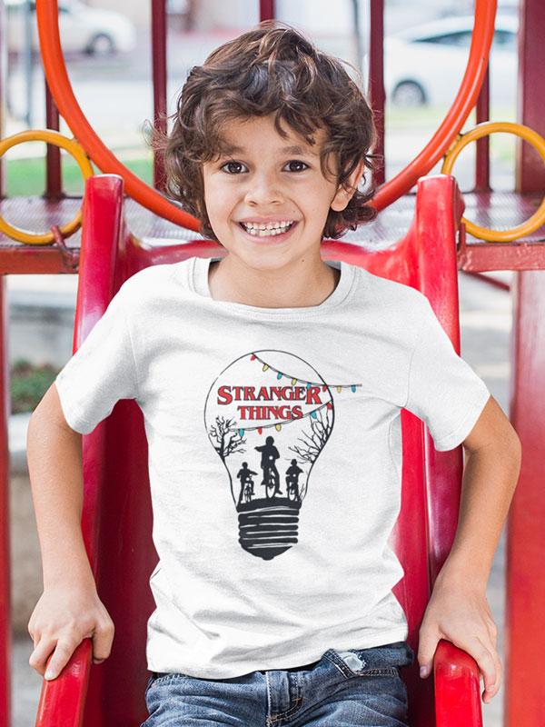camiseta stranger things bombilla infantil