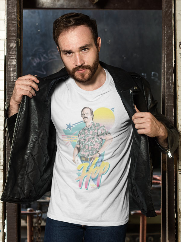 camiseta stranger things hopper adulto