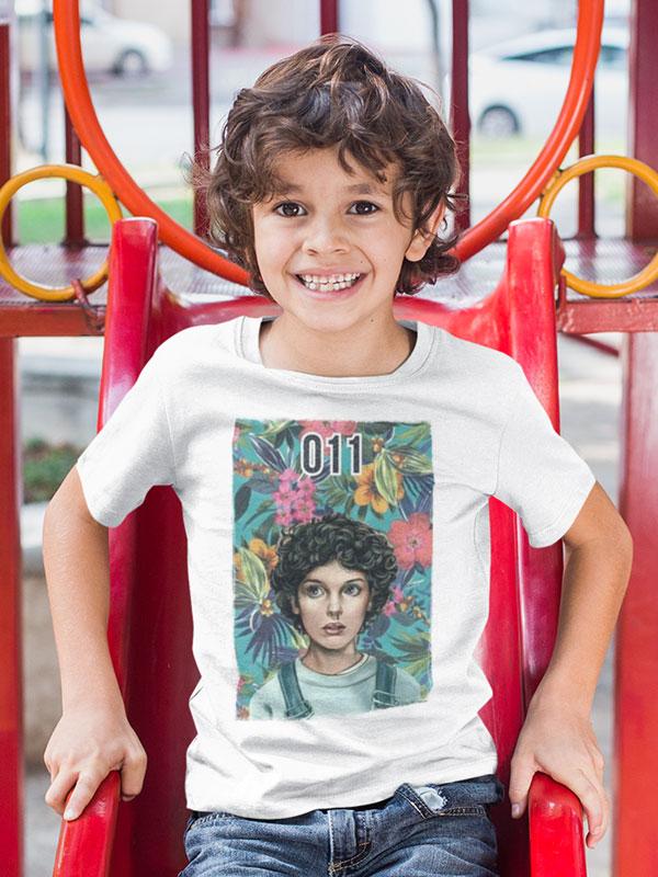camiseta stranger things once infantil