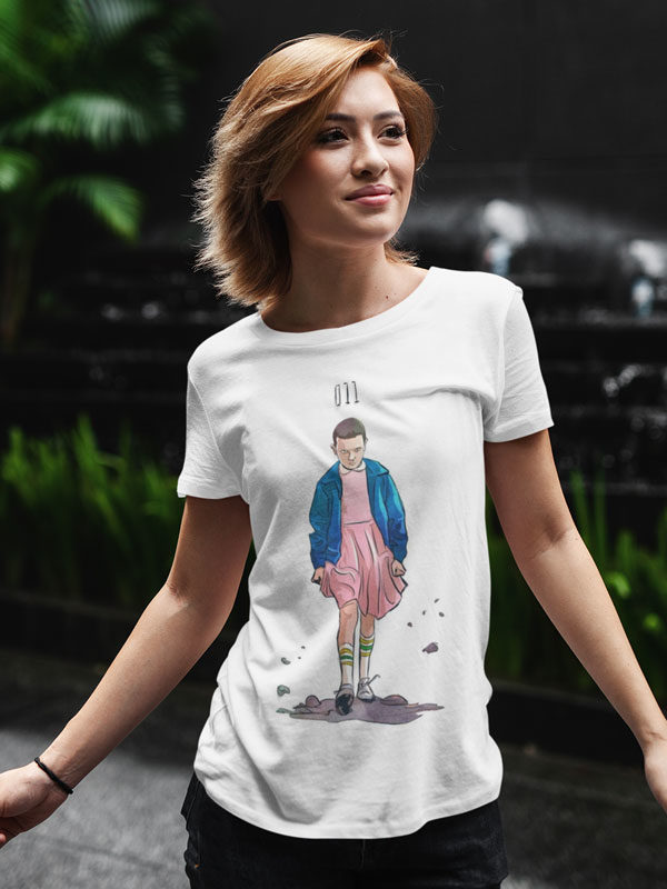 camiseta unisex de stranger things eleven
