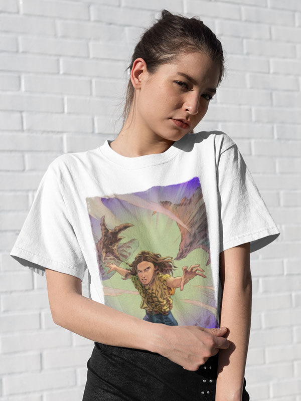 camiseta unisex eleven vs demogorgon stranger things