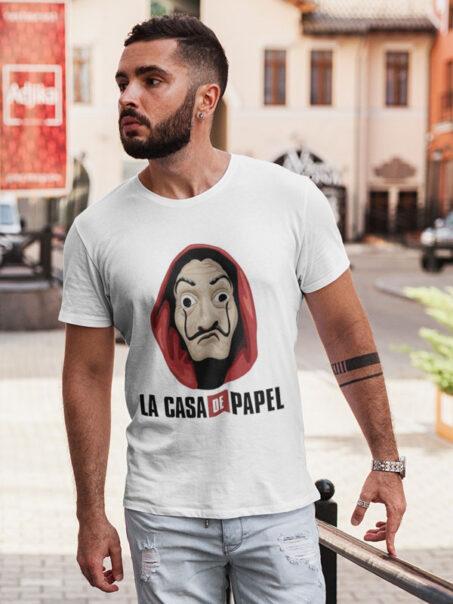 camisetas mascara de dali la casa de papel adulto