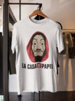 camisetas mascara de dali la casa de papel unisex
