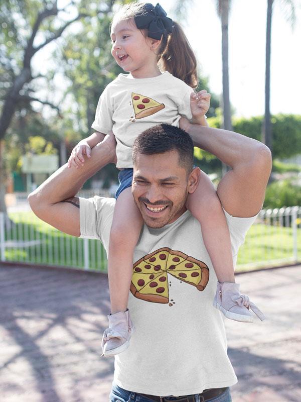 camisetas padre e hijo pizza