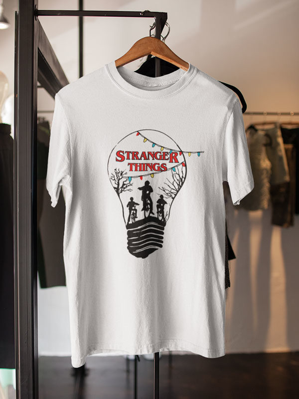 camisetas stranger things bombilla unisex