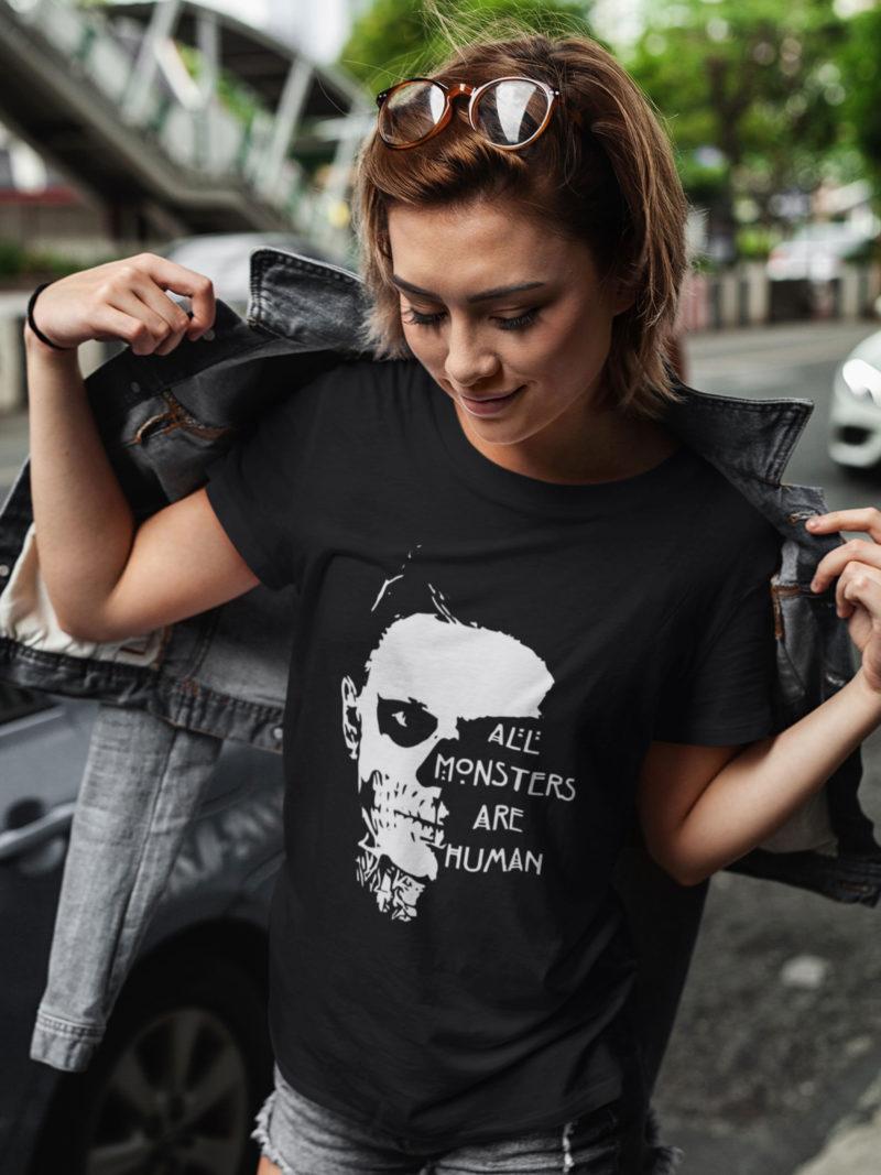 damiseta all monsters are human unisex