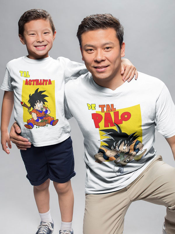 kit camisetas dragon ball padre e hijo