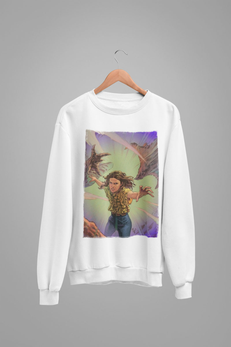 sudadera eleven vs demogorgon stranger things infantil