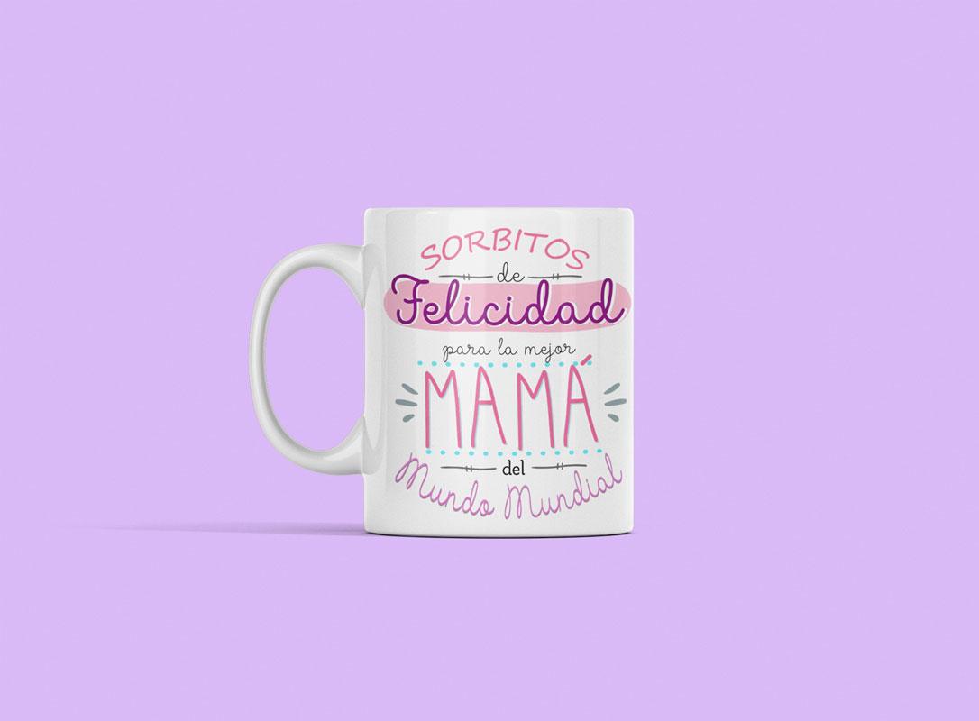 taza con frase del dia de la madre
