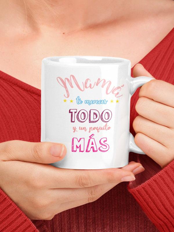 taza con frase para mama