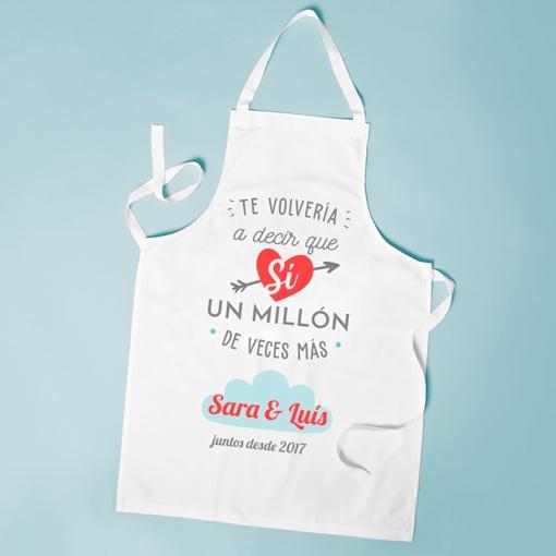 delantales personalizados para san valentin