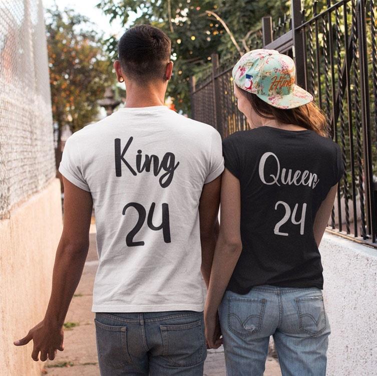 regalos para san valentín king y queen blanco y negro