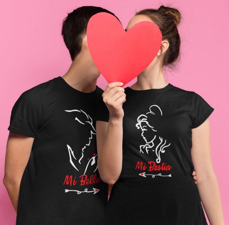 Camiseta la bella y la bestia