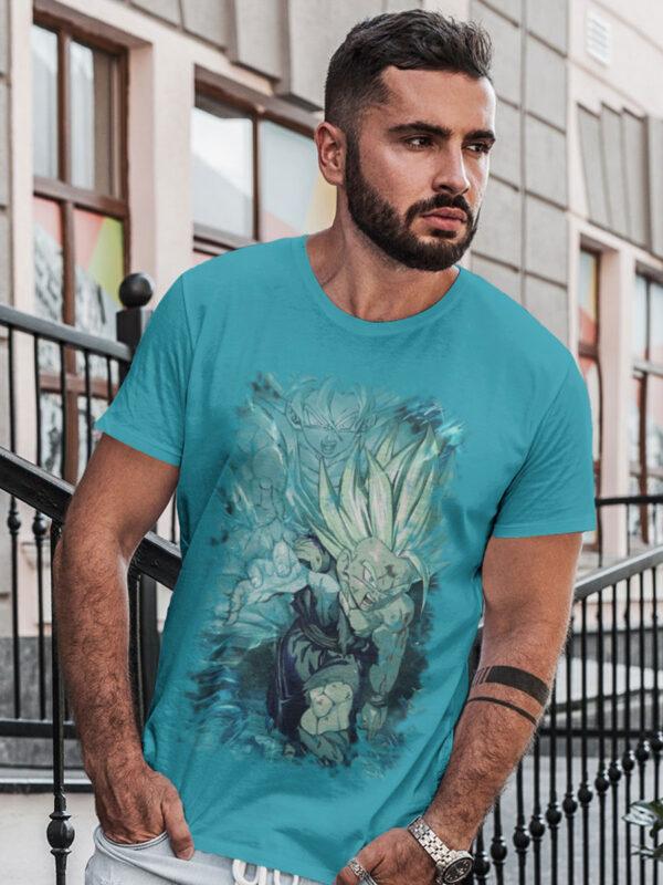 Camiseta ataque padre e hijo dragon ball