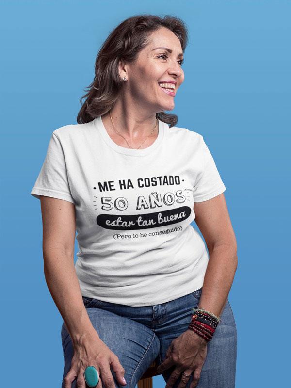camiseta blanca de anos personalizados